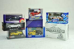 A group of diecast comprising various makers, Corgi, Siku and others. Excellent in boxes.