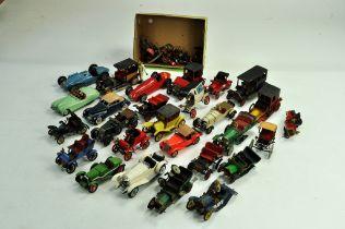 An interesting assortment of assembled Plastic Model Kits depicting classic and vintage era