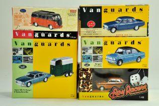 A group of Vanguards 1/43 diecast Classic Car issues comprising Jaguar Horsebox set, Boy Racers