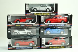 An interesting group of 1/32 diecast cars comprising various issues. All excellent with boxes.