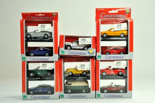 A group of 1/43 diecast issues comprising Cararama Multipacks and one single issue. All excellent