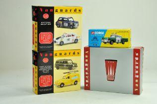 Corgi Diecast Classics Issue Police car plus trio of Vanguards Sets. Excellent in Boxes.