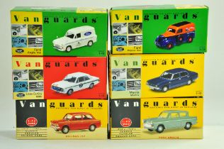 A group of Vanguards 1/43 diecast Classic Car issues comprising Ford, Hillman, Morris etc. All