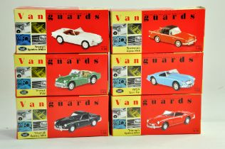 A group of Vanguards 1/43 diecast Classic Car issues comprising Triumphs, MGA and Sunbeam. All