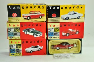 A group of Vanguards 1/43 diecast Classic Car issues comprising Triumphs, MGA, Rover, Austin etc.