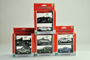 Four Cararama Diecast 1/43 Car Sets. Two in each pack. Excellent in boxes.