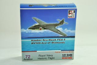 72 Aviation Diecast Model Aircraft comprising 1/72 Hawker Sea Hawk. Appears complete with no damage,