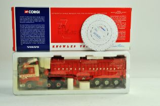 Corgi diecast truck issue comprising 1/50 No. CC12410 Volvo FM Tipper in the livery of Knowles.