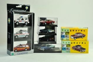 A group of 1/43 diecast comprising duo of Vanguards plus Cararama and other issues. All excellent