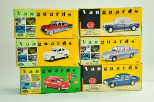 A group of Vanguards 1/43 diecast Classic Car issues comprising Vauxhall, Rover, Austin and others..
