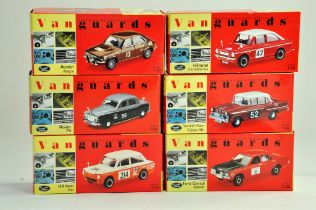 A group of Vanguards 1/43 diecast Classic Car issues comprising Austin, Rover, Hillman etc. All