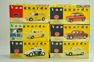 A group of Vanguards 1/43 diecast Classic Car issues comprising Mini, Ford, Rover etc. All excellent