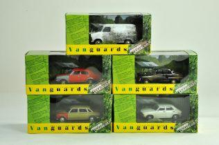 A group of five diecast 1/43 Vanguards Hidden Treasures. Excellent in boxes.