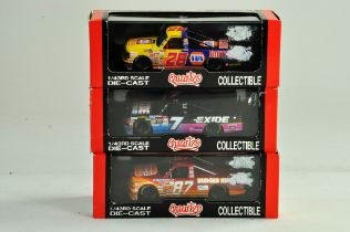 Trio of Quartzo 1/43 American Nascar type issues. Excellent in Boxes.