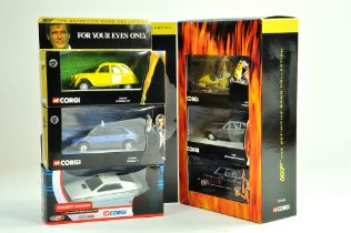 A group of six Corgi James Bond Diecast issues including trio set. Excellent in Boxes.