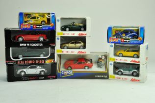 A group of diecast comprising various makers, Corgi, Schuco and others. Excellent in boxes.