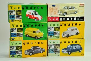 A group of Vanguards 1/43 diecast Classic Car issues comprising Ford, Rover, Morris etc. All