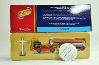 Corgi diecast truck issue comprising 1/50 No. CC11403 Bedford KM Platform and Brick Load in the