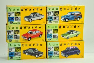 A group of Vanguards 1/43 diecast Classic Car issues comprising Ford, Morris, Austin and Mini. All