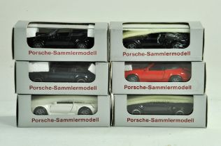 An interesting group of NZG diecast Porsche Models. Various colours. Excellent in boxes.