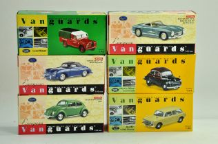A group of Vanguards 1/43 diecast Classic Car issues comprising Porsche, VW, Mercedes etc. All