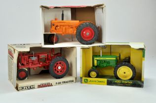 Ertl 1/16 farm issues comprising McCormick Farmall F-20 Tractor plus John Deere 420 and Scale Models