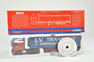 Corgi 1/50 Diecast Truck issue comprising No. CC13227 DAF XF Curtainside in the livery of LV