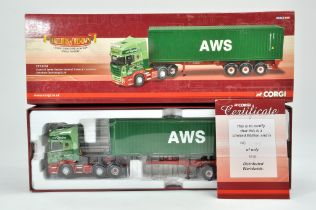 Corgi 1/50 Diecast Truck issue comprising No. CC13718 Scania R Series Container Trailer in the