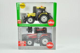 Siku 1/32 Farm issue comprising Massey Ferguson 5460 Highway Tractor plus McCormick TTX230 Hawk