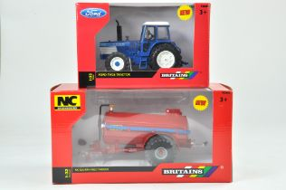 Britains 1/32 Farm issue comprising Ford TW25 Tractor plus NC Slurry Tanker. Previously on
