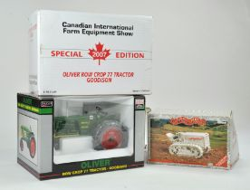Spec Cast 1/16 farm issue comprising Oliver Row Crop 77 Tractor for Canadian Farm Show 07 plus
