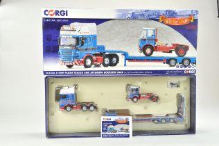 Corgi 1/50 Diecast Truck issue comprising No. CC13743 Scania R Step Frame Trailer with Atkinson