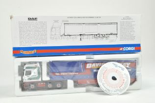Corgi 1/50 Diecast Truck issue comprising No. CC13229 DAF XF Curtainside in the livery of David