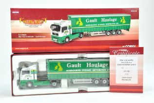 Corgi 1/50 Diecast Truck issue comprising No. CC 13428 MAN TGA Curtainside in the livery of Gault