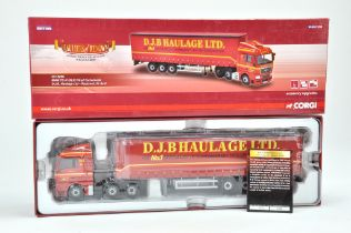 Corgi 1/50 Diecast Truck issue comprising No.CC15206 MAN TG-X Curtainside in the livery of DJB