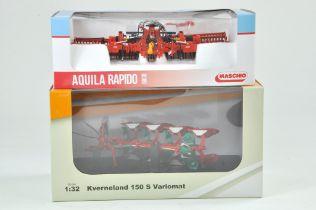 ROS 1/32 Farm issue comprising Maschio Aquila Rapido 6000 plus Universal Hobbies Kverneland