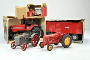 A group of mostly Ertl 1/16 Farm issues comprising Case Tractor and Trailer plus others inc Massey