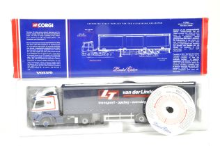 Corgi 1/50 Diecast Truck issue comprising No. CC12407 Volvo Curtainside in the livery of Van Der