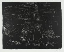 JOHN PIPER CH [1903-1992]. Easton, Portland, Dorset, 1964. lithograph on handmade Barcham Green