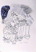 CERI RICHARDS R.A. [1903-71]. Hermes & Menipeus, 1971. lithograph; edition of 100; proof. 44 x 31 cm