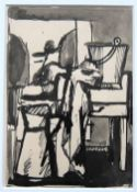 KEITH VAUGHAN [1912-77]. Still Life. watercolour and ink. 14 x 10 cm [overall 29 x 25 cm including