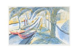 EDWARD BAWDEN RA [1903-1989] - Estimates to follow. Among the Marsh Arabs, 1986. lithograph