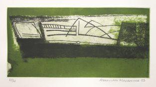 ALEXANDER MACKENZIE [1923-2002] - Scrimshaw (Mary Rose), 2002. etching