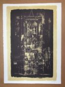 JOHN PIPER CH [1903-1992]. Gedney, Lincolnshire, 1964. lithograph on handmade Barcham Green paper