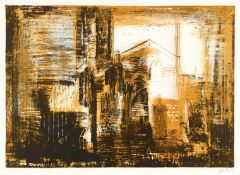 JOHN PIPER CH [1903-1992]. Fotheringhay, Northamptonshire, 1964. lithograph on handmade Barcham