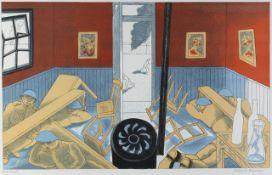 EDWARD BAWDEN RA [1903-1989] - Dunkirk, 1986. lithograph