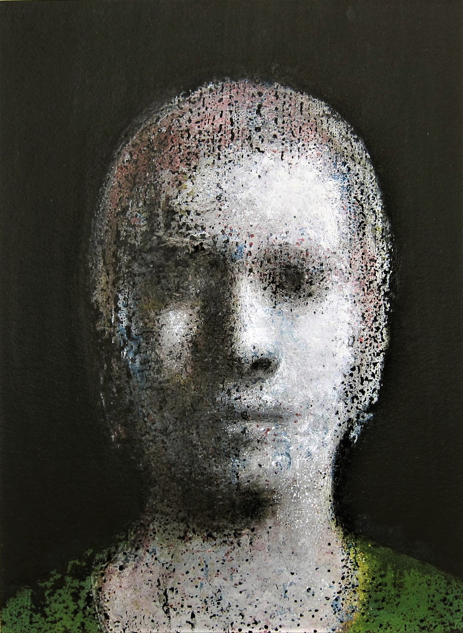 ROBERT CLATWORTHY R.A. [1928-2015]. Head, 1999; acrylic on card; signed. 35 x 27 cm image size -