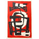 FRANK AVRAY WILSON [1914-2009]. Untitled [Red and Black], 1956. Screenprint on Hayle Mill paper.