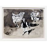 KEITH VAUGHAN [1912-77]. Figure in an Orchard, 1943. ink and watercolour; studio stamp initials. 9 x
