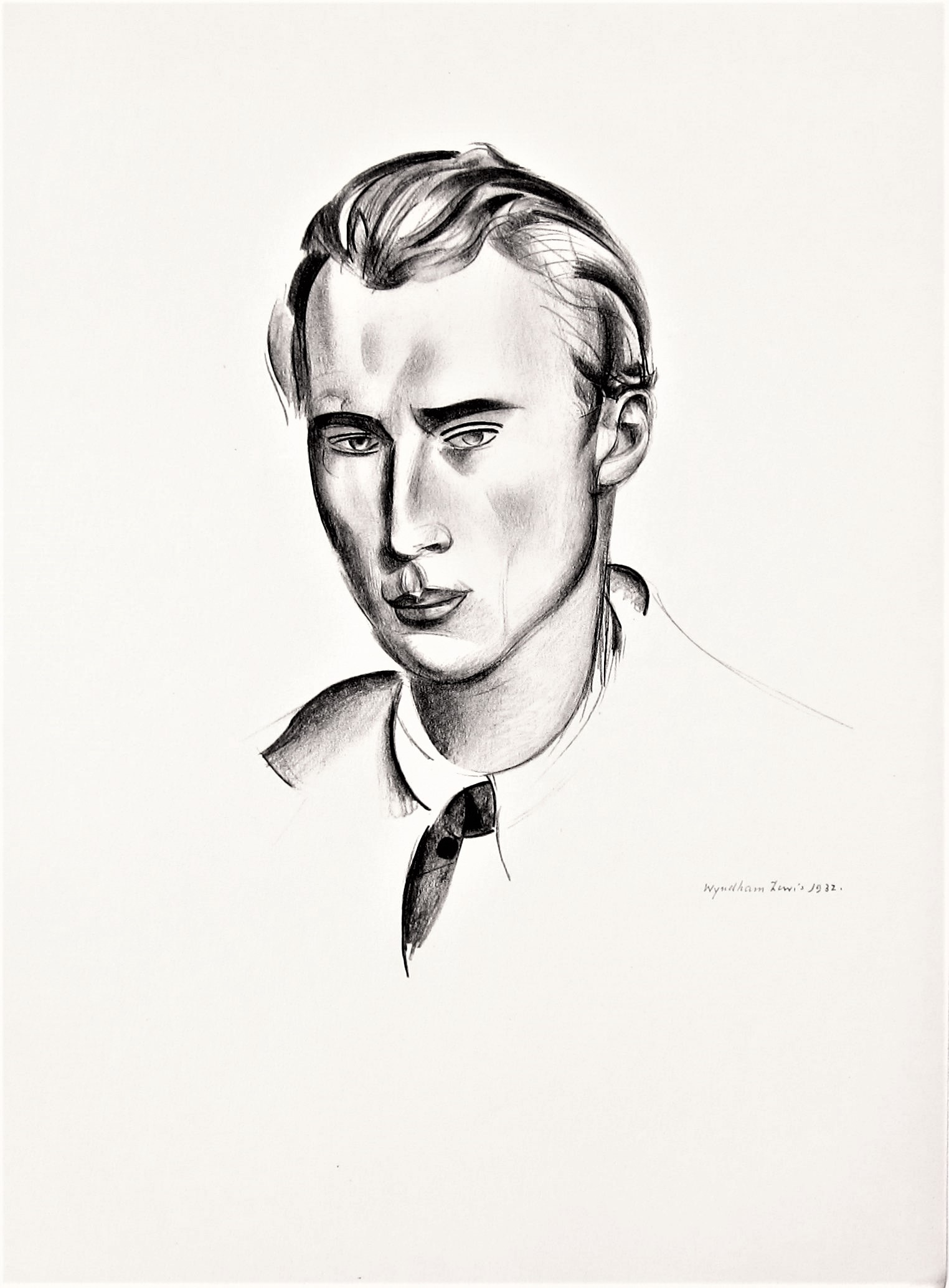 WYNDHAM LEWIS [1892-1957]. Desmond Harmsworth, 1932. lithograph, edition of 200, 186/200; printed in